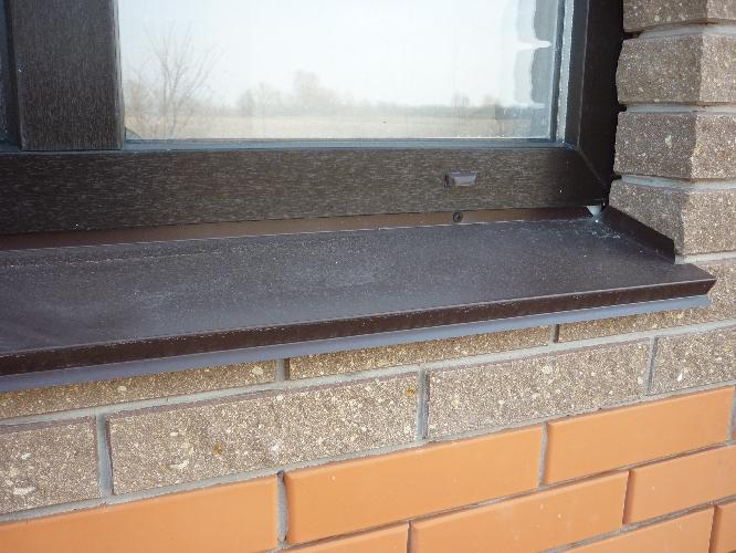 установить отливы на окна